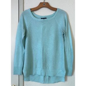 Sea Foam Green AEO Sweater with Waffle Detail